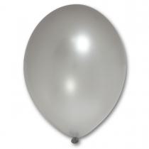 Латексные шары круглые без рисунка 1102-0032 в105/061 металлик серебряный
