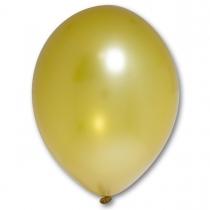 Латексные шары круглые без рисунка 1102-0203 в85/060 металлик золотой