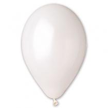 """Латексные шары круглые без рисунка 1102-0275 и 10""""/29 металлик белый"""