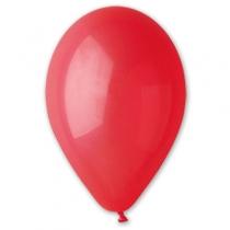 """Латексные шары круглые без рисунка 1102-0287 и 10""""/45 пастель ярко-красный"""