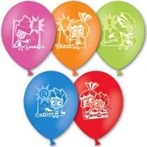 """Латексные шары круглые 1103-1120 Шар с рисунком 12"""" Фиксики"""