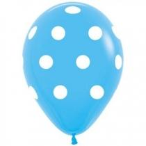 """Латексные шары круглые 1103-3062 Шелкография 12"""" Горошек крупный/Ит"""