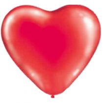 """Латексные шары сердца 1105-0016 сердце 10"""" пастель красное/ит"""