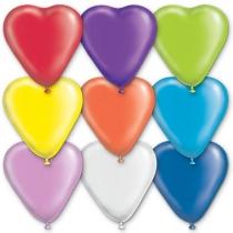 """Латексные шары сердца 1105-0147 сердце 16"""" пастель"""