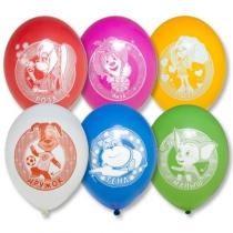 Латексные шары круглые  1111-0692 рис Барбоскины 30см
