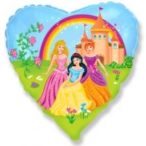 """Фольгированные шары 1202-1771 Ф 18"""" Принцессы на прогулке/FM"""