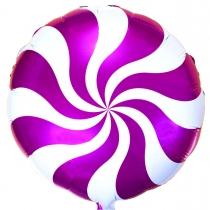 """Фольгированные шары 1202-2106 Ф 18"""" Конфета розовая/FM"""