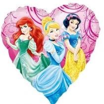 """Фольгированные шары с рисунком 1202-3182 а 18"""" уп hesaver принцессы в саду s60"""