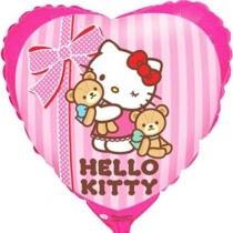 """Фольгированные шары с рисунком 1202-3224 ф 18"""" hello kitty лучшие друзья/fm"""