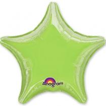 """Фольгированные шары 1204-0044 А Б/РИС ЗВЕЗДА 19"""" Металлик LimeGreen S15"""