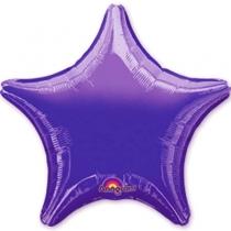 """Фольгированные шары 1204-0049 а б/рис звезда 19"""" металлик purple s15"""