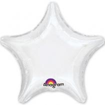 """Фольгированные шары 1204-0056 А Б/РИС ЗВЕЗДА 19"""" Пастель White S15"""