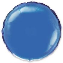"""Фольгированные шары 1204-0089 Ф Б/РИС 18"""" КРУГ Металлик Голубой(FM)"""