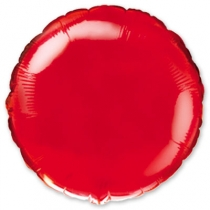 """Фольгированные шары 1204-0093 Ф Б/РИС 18"""" КРУГ Металлик Красный(FM)"""