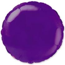 """Фольгированные шары 1204-0095 Ф Б/РИС 18"""" КРУГ Металлик Фиолетовый(FM)"""