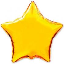 """Фольгированные шары без рисунка 1204-0105 ф б/рис 32"""" звезда металлик золотая(fm)"""
