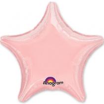 """Фольгированные шары 1204-0225 А Б/РИС ЗВЕЗДА 19"""" Металлик Pink S15"""