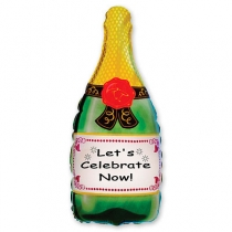 Фольгированные шары 1207-0399 Ф ФИГУРА/8 Бутылка Шампанского(FM)