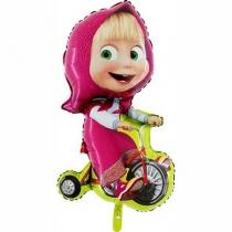 Фольгированные шары 1207-2157 Г ФИГУРА Маша на велосипеде