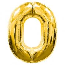 Фольгированные шары 1207-3258 Ф ЦИФРА 0 Gold