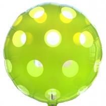 """Фольгированные шары 3202-0045 А 18"""" Круг зеленый в горошек"""