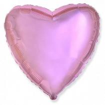 """Фольгированные шары без рисунка 3204-0008 ф б/рис 18"""" сердце металлик розовое"""