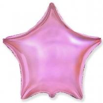 """Фольгированные шары без рисунка 3204-0015 ф б/рис 18""""звезда металлик розовая"""