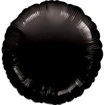 """Фольгированные шары 3204-0022 А Б/РИС КРУГ 18"""" Пастель Opaque Black S15"""