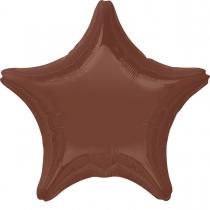 """Фольгированные шары 3204-0026 А Б/РИС ЗВЕЗДА 18"""" Пастель Шоколад S15"""