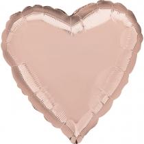 """Фольгированные шары без рисунка 3204-0027 а б/рис сердце 18"""" металлик розовое золото s15"""