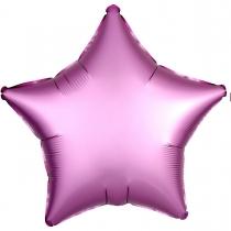 """Фольгированные шары без рисунка 3204-0068 а б/рис 18"""" звезда сатин фламинго s15"""