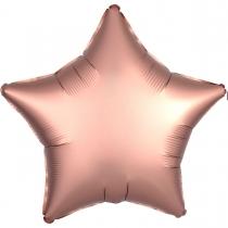 """Фольгированные шары без рисунка 3204-0069 а б/рис 18"""" звезда сатин розовое золото s15"""
