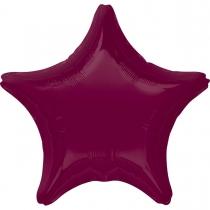 """Фольгированные шары без рисунка 3204-0126 а б/рис звезда 19"""" металлик berry s15"""