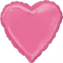 """Фольгированные шары без рисунка 3204-0132 а б/рис сердце 19"""" пастель rose s15"""
