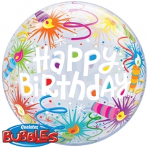 """Фольгированные шары с рисунком 1202-1922 22"""" happy birthday"""