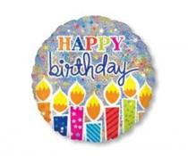 """Фольгированные шары с рисунком 1203-0440 32"""" happy birthday"""