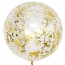Кристально прозрачный шар полугигант с конфетти (конфетти на выбор)