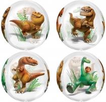 Фольгированные шары 3209-0020 А 3D СФЕРА УП Хороший динозавр